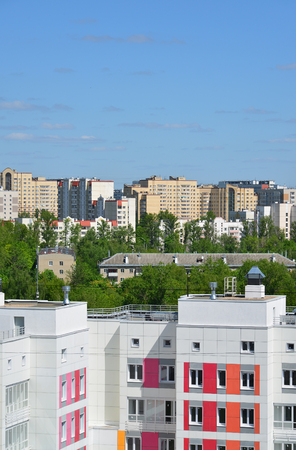districts: View of the 8 districts of Zelenograd, Russia Stock Photo