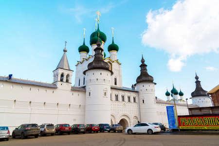 veliky: Rostov Veliky, Russia-March 30.2016.  View of the Kremlin
