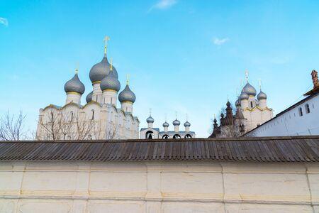 veliky: Rostov Veliky, Russia- View of the Kremlin Stock Photo