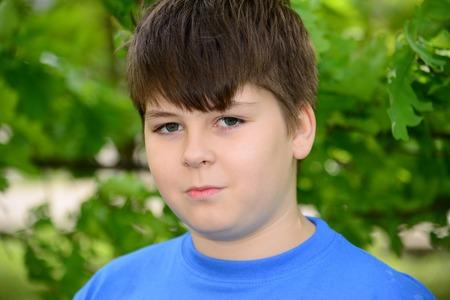teeny: Portrait of a boy of about 12 years in Oak Park