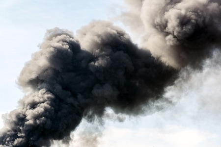 farther: A lot of black smoke from the fire