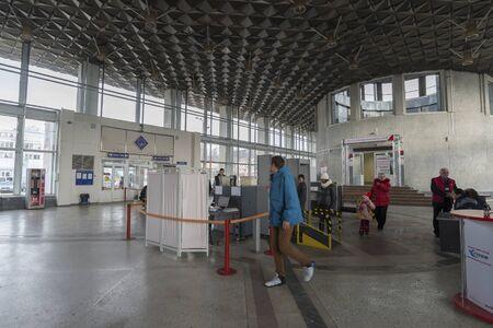 vladimir: Vladimir, Russia - November 18.2016. The interior of the railway station Editorial
