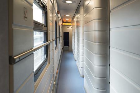 treno espresso: Moscow, Russia-December 01.2016. the interior of the express train Strizh