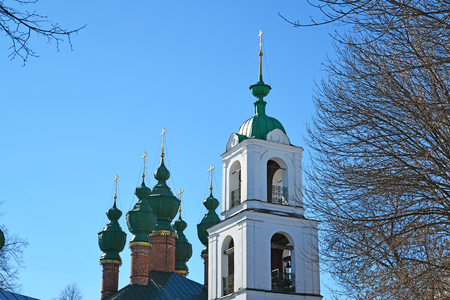 the ascension: Church of the Annunciation and the Ascension Cathedral in Yaroslavl, Russia