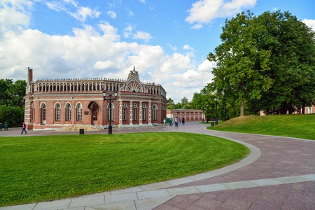 by catherine: Moscow, Russia - June 08, 2016. A Cavalry Corps in museum estate of Tsaritsyno Editorial