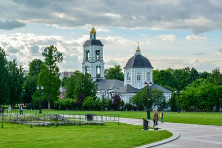tsaritsyno: Moscow, Russia - June 08, 2016. Church Of The Icon Of MostHoly Mother Of God Life-Giving Spring in museum-reserve Tsaritsyno.