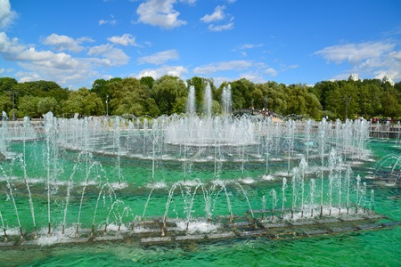 tsaritsyno: Musical Fountain in Tsaritsyno park in a Moscow, Russia Stock Photo