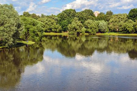tsaritsyno: Big Pond Tsaritsyno in a Moscow, Russia