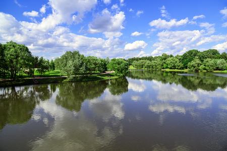 tsaritsino: Big Pond Tsaritsyno in a Moscow, Russia