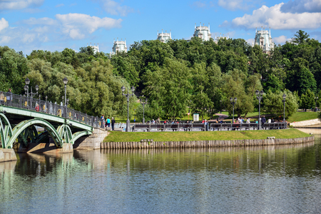 tsaritsyno: Moscow, Russia - June 08. 2016. General view of the park Tsaritsyno in summer Editorial