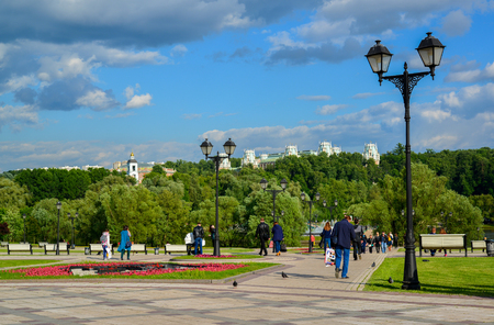 Moscow, Russia - June 08. 2016. General view of the park Tsaritsyno in summer Editorial