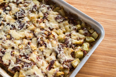 courgettes: A casserole with mince and a courgettes Stock Photo