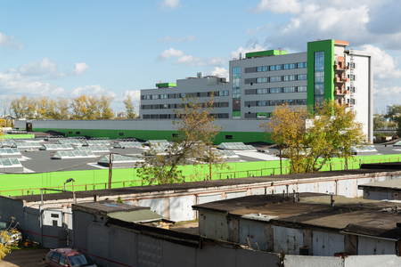 sucks: Moscow, Russia-October 01.2016. Construction-repair housing of sucks electrodepot Likhobory