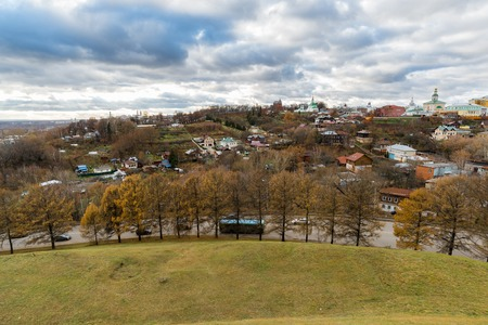 housetop: New Earth city - the historic center of Vladimir in Russia Stock Photo