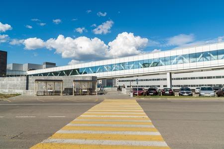 footbridges: Krasnogorsk, Russia - July 09.2016. A Connecting footbridges in Shopping and entertainment center Vegas Crocus City