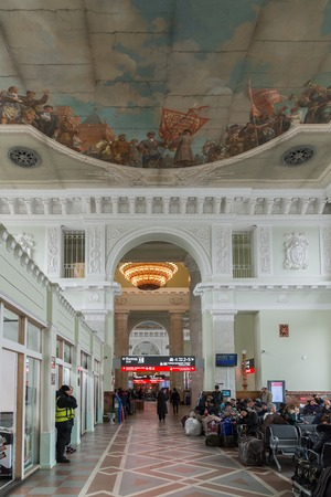 Volgograd, Russia -November 04.2016. The waiting room at the railway station