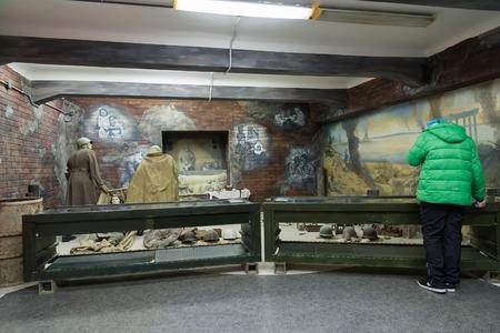 marshal: Volgograd, Russia - November 02, 2016. Museum of Memory -Place captivity fascist Marshal Paulus in a World War II Editorial
