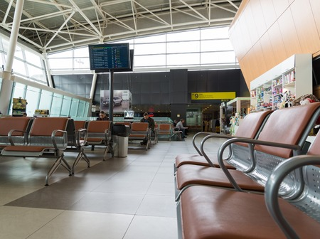 tatarstan: Moscow, Russia - March 29.2017. Departure hall of airport in Kazan, Republic of Tatarstan Editorial