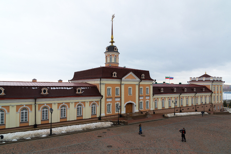 Kazan, Russia. The main building of Cannon Court in the Kremlin