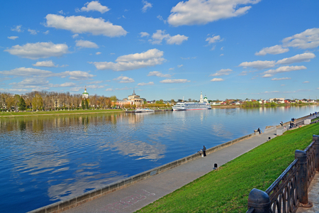 mikhail: View of a river Volga from the embankment in Tver, Russia