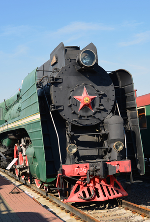 amplified: Moscow, Russia - April 1.2017. Steam locomotive of Sormovskiy amplified series