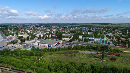 Top view of Gryazi town in a Lipetsk oblast in Russia Stock Photo