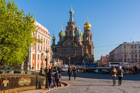 st: St. Petersburg, Russia - June 04.2017. The Church of Savior on the Spilled Blood Editorial