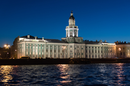 Kunstkammer on the banks of Neva River in St. Petersburg, Russia