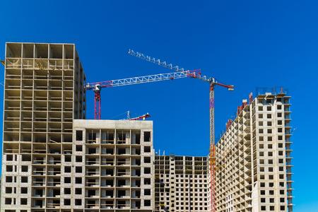 Výstavba obytných budov v Moskvě, Rusko