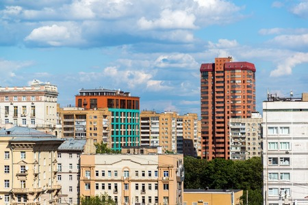 residential area: Top view of Meshchansky district of a Moscow, Russia