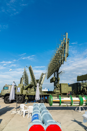 Moscow, Russia - July 24. 2017. Self-propelled radar systems at the International Aviation and Space salon MAKS-2015 Editorial