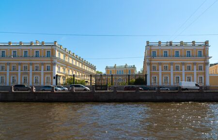 St. Petersburg, Russia - June 04.2017 Museum-Estate Derzhavin. Embankment of the Fontanka River 118 Editorial