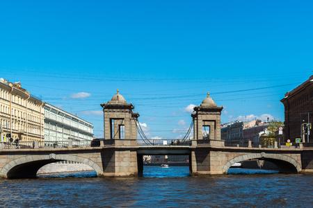 St. Petersburg, Russia - June 04.2017 Lomonosov Bridge on the Fontanka River