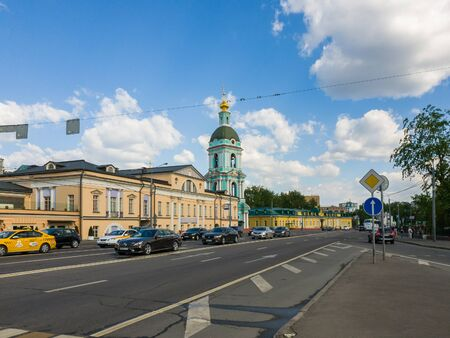 Moscow, Russia - May 12, 2018. Yauzskaya Street is one of oldest streets of the city