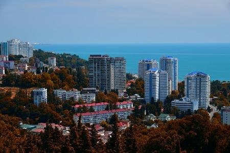 Eine Luftaufnahme der Stadt Sotschi. Russland