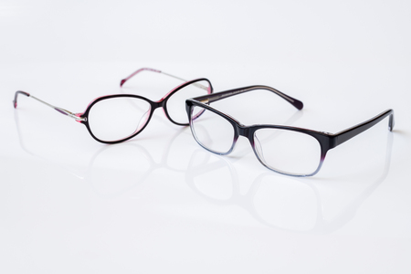 Stylish glasses for women with monofocal lenses Stok Fotoğraf