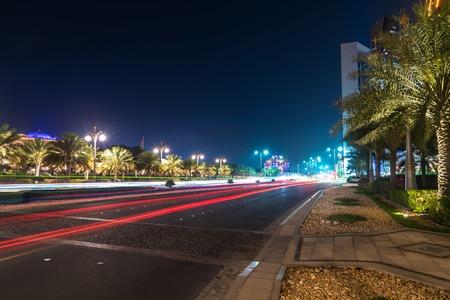 The Night cityscape in Abu Dhabi, UAE