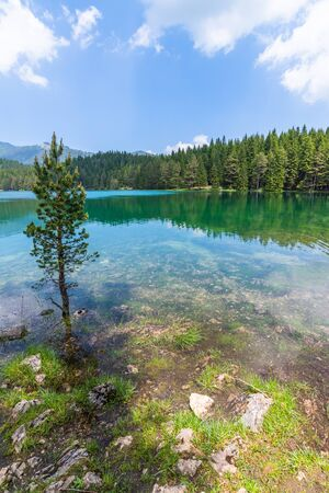 Montenegro, Durmitor National Park, the Black Lake Stock Photo