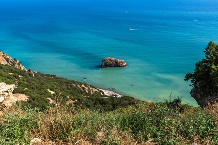 Landscape of the sea coast in a Crimea Stock Photo