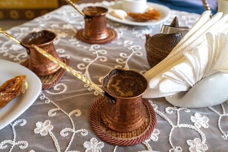 Crimean Tatars traditional coffee and sweets