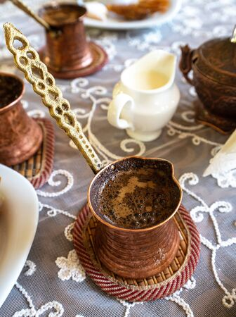 Crimean Tatars traditional coffee and a sweets