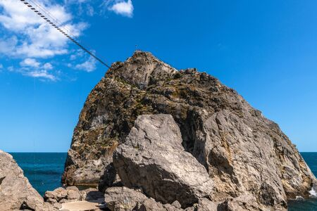 The Famous tourist Diva rock in Simeiz, Crimea