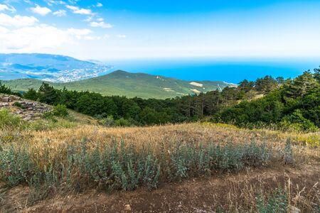 Beautiful view from Mount Ah-Petri in Crimea