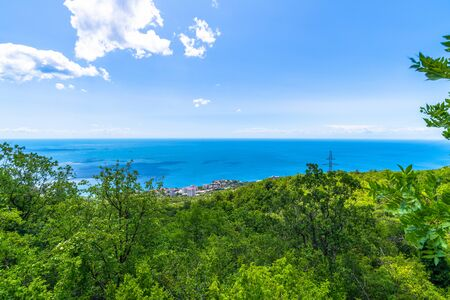 Beautiful landscape with Black Sea in Foros. Crimea