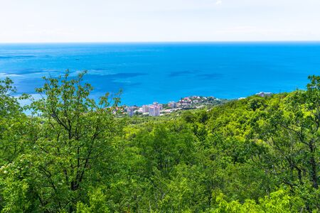 Beautiful landscape with Black Sea in Foros. Crimea Banque d'images