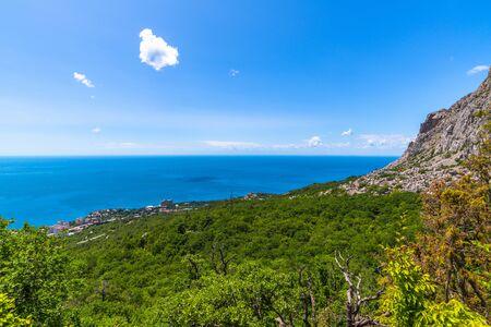 Hermoso paisaje con el Mar Negro en Foros. Crimea Foto de archivo