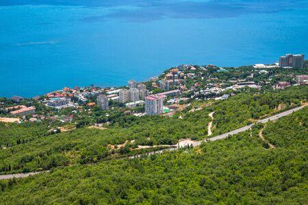 Beautiful landscape with Black Sea in Foros. Crimea Foto de archivo
