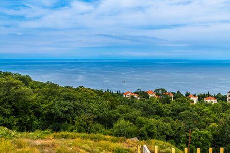 Landscape of the sea coast in Crimea