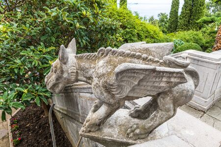 Chimera sculpture about Livadia Palace, Residence of Russian Tsars in Livadia, Crimea