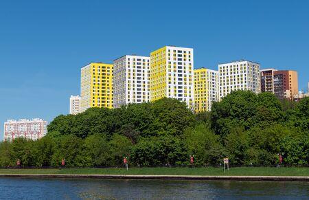 Cityscape of Levoberezhnyy district in Khimki city. Russia
